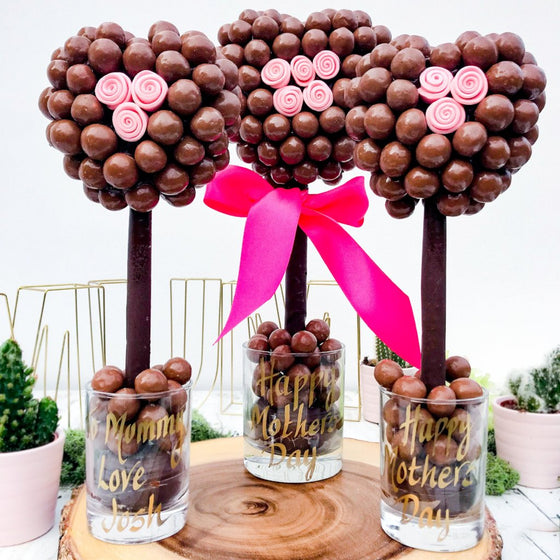 Personalised Malteser Pink Rose Tree