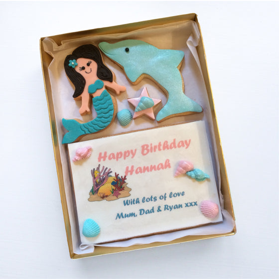 Mermaid Cookie Card