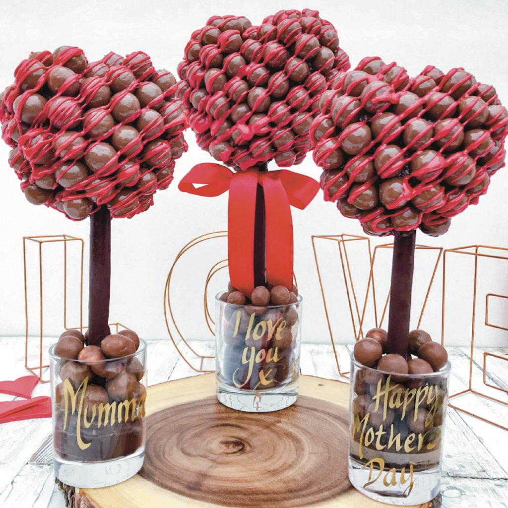 Personalised Malteser Red Chocolate Drizzle Tree