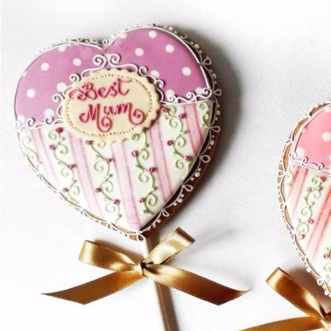 Personalised Heart Cookie Pop