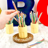 Edible Pencil Pot and Sweetie Pencils