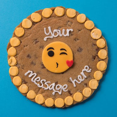 Personalised Emoji Kiss Cookie Card