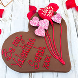 Personalised LetterBox Gift Valentines Chocolate Heart