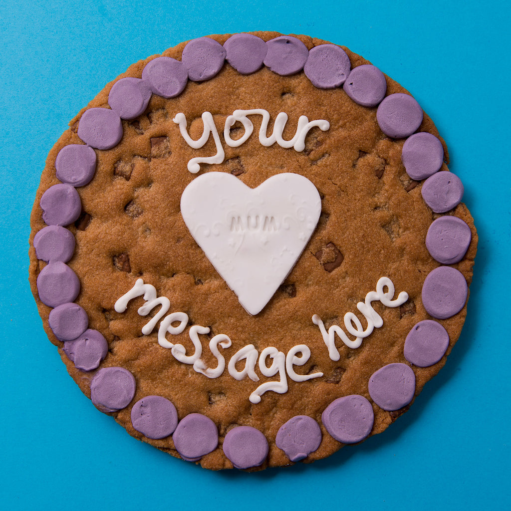 Personalised Heart Cookie Card