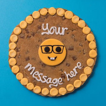Personalised Nerd Emoji Cookie Card