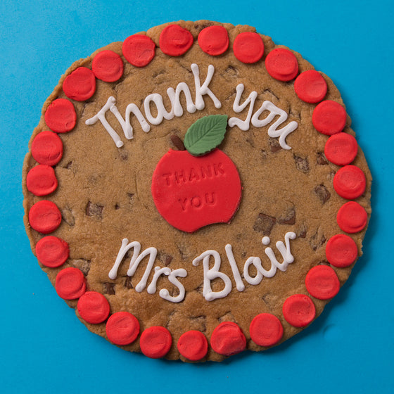 Thank You Teacher Cookie Card