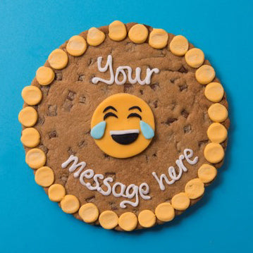 Personalised Tears of Joy Emoji Cookie Card