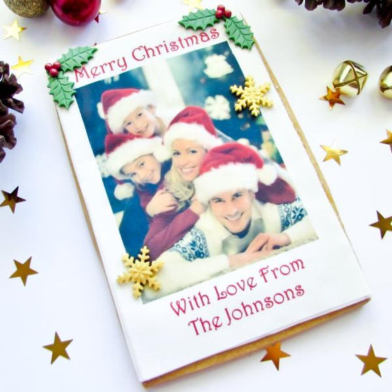 Photo Christmas Cookie Cards Personalised Gifts