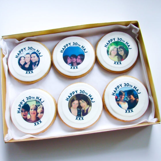 Personalised Photo Shortbread Cookie Gift Box