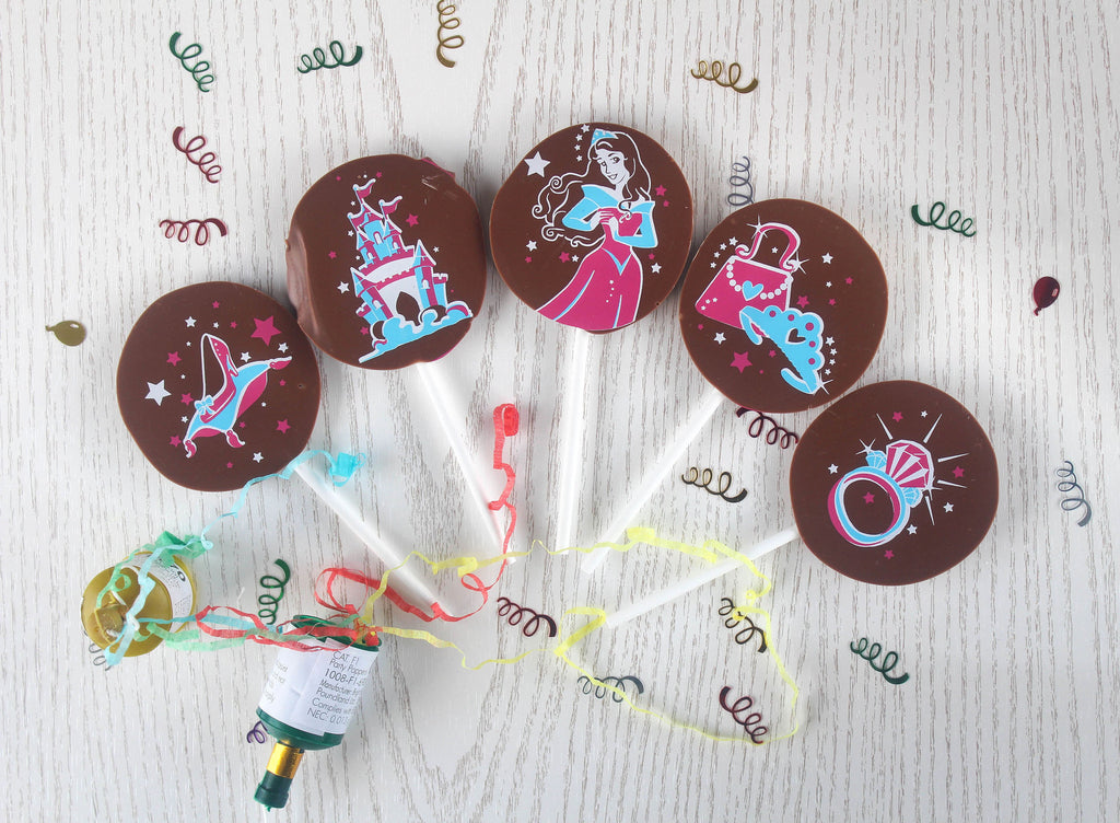 Chocolate at Home Princess Chocolate Lollipops