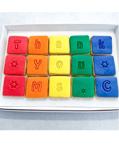 Rainbow Thank You Biscuit Box