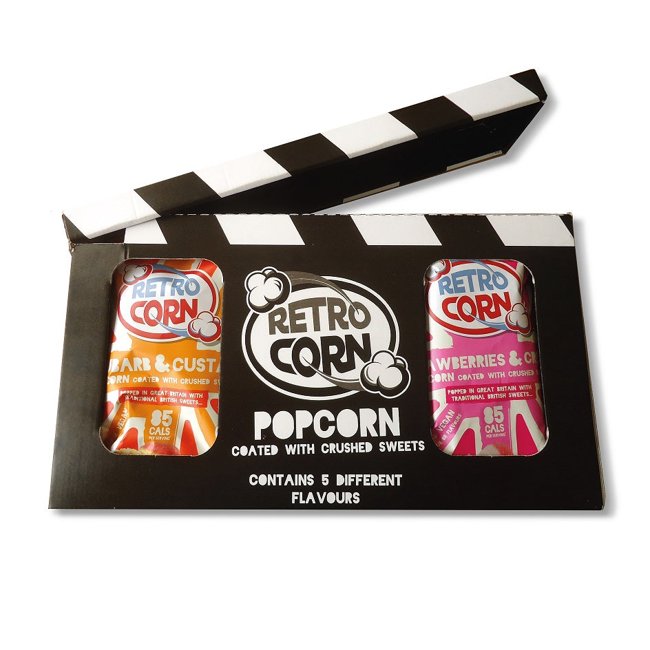 Retrocorn Popcorn Film Clapper Board Gift Box