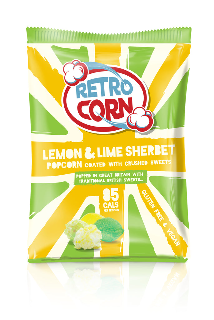 Retrocorn Popcorn Lemon & Lime Sherbet