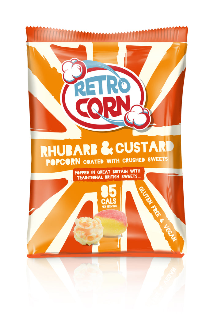Retrocorn Popcorn Rhubarb Custard