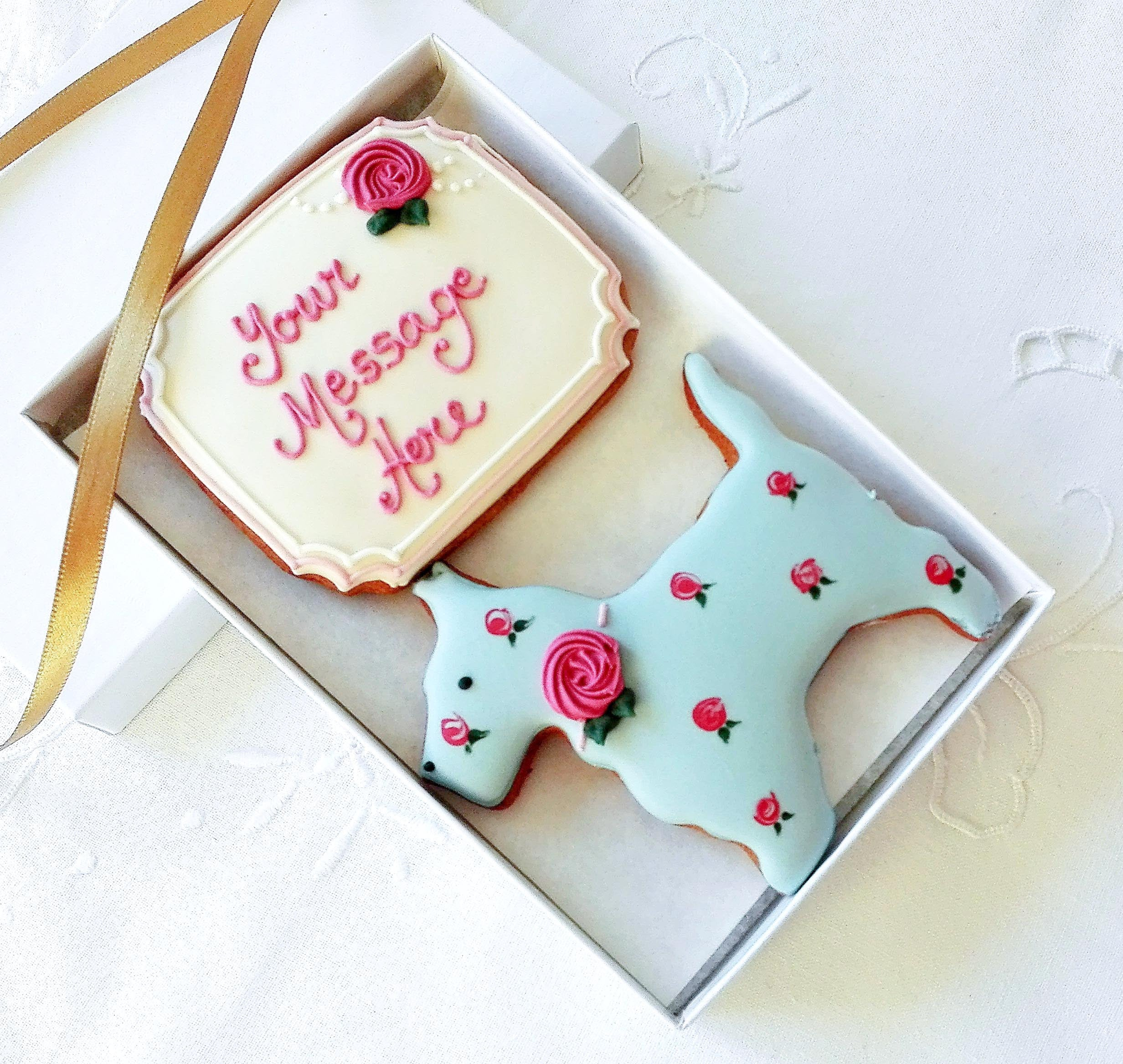 Personalised Scottie Cookie Gift Box - Funky Food Gifts