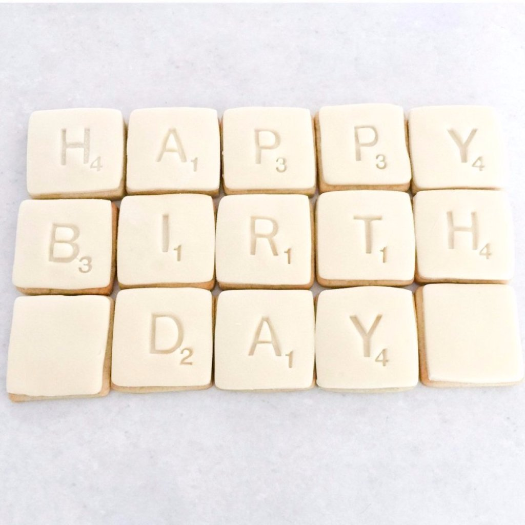 Scrabble Letter Cookies Personalised