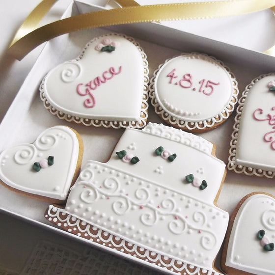 Personalised Wedding Cookies