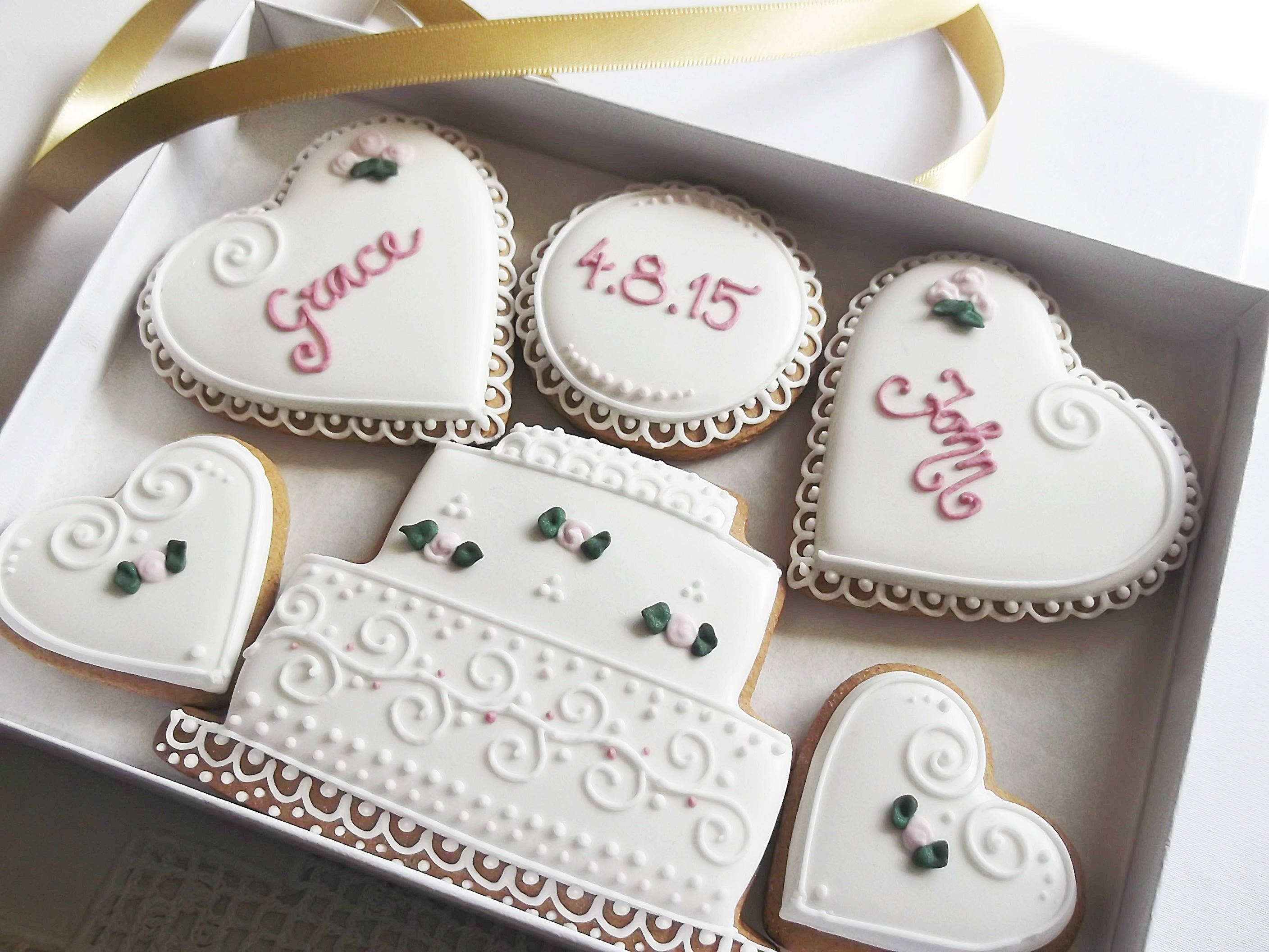 Personalised Wedding Cookie Gift Box Funky Food Gifts