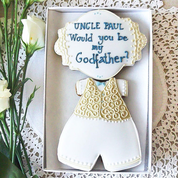 Will You Be My Godfather Cookie