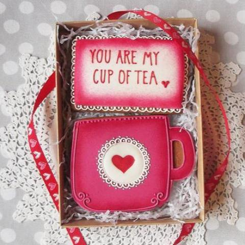 You Are My Cup of Tea Gingerbread Cookie Box