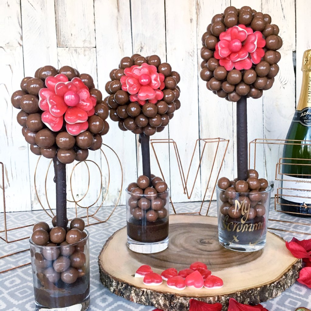 Malteser and Haribo Heart Flower Sweet Tree