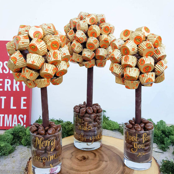 Personalised Reese's Pieces Butter Cup Sweet Tree
