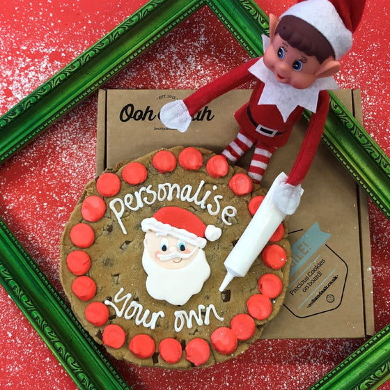Personalised Your Own Giant Santa Cookie