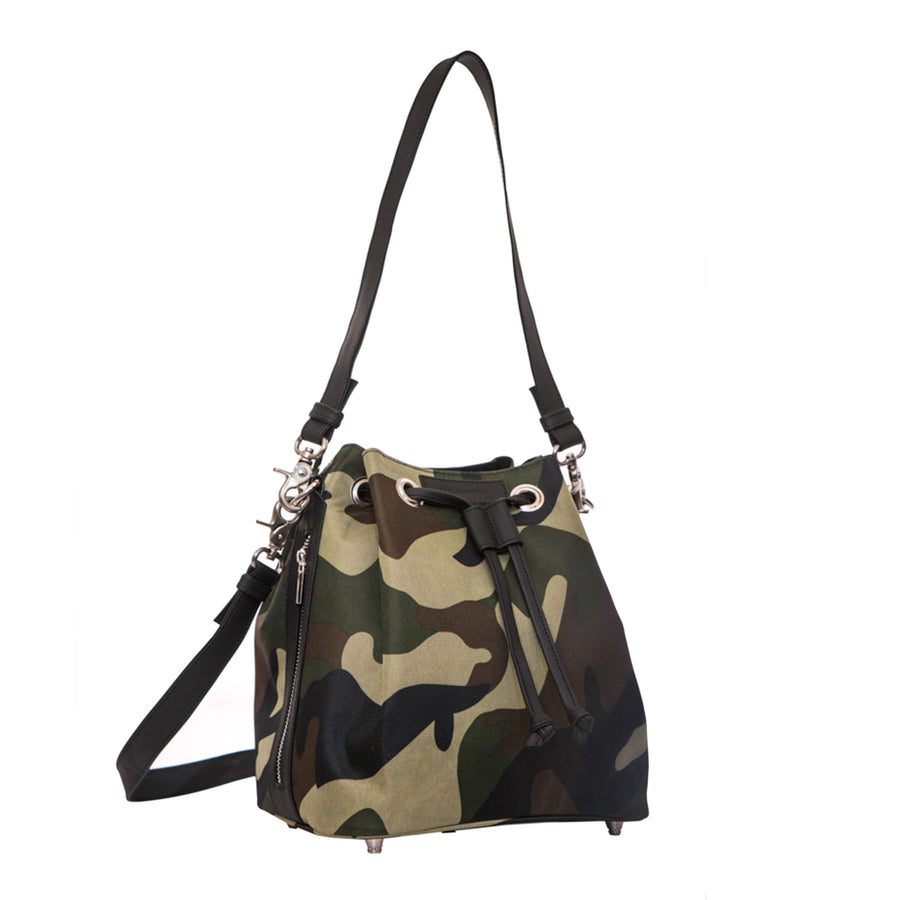 Rugged Medium Bucket Bag, Camo