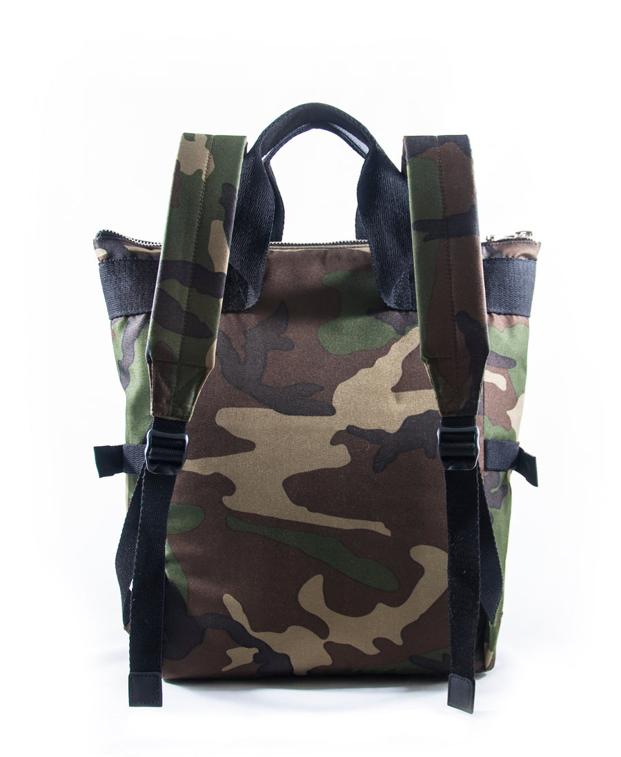 Revolt Angled Backpack (Green Camo)