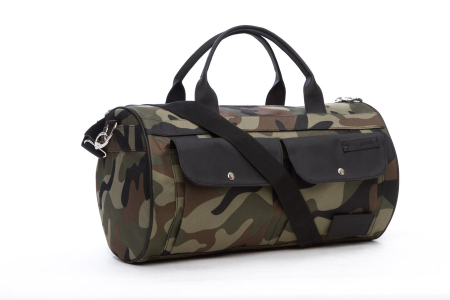Rugged Round Gym Bag, Camo