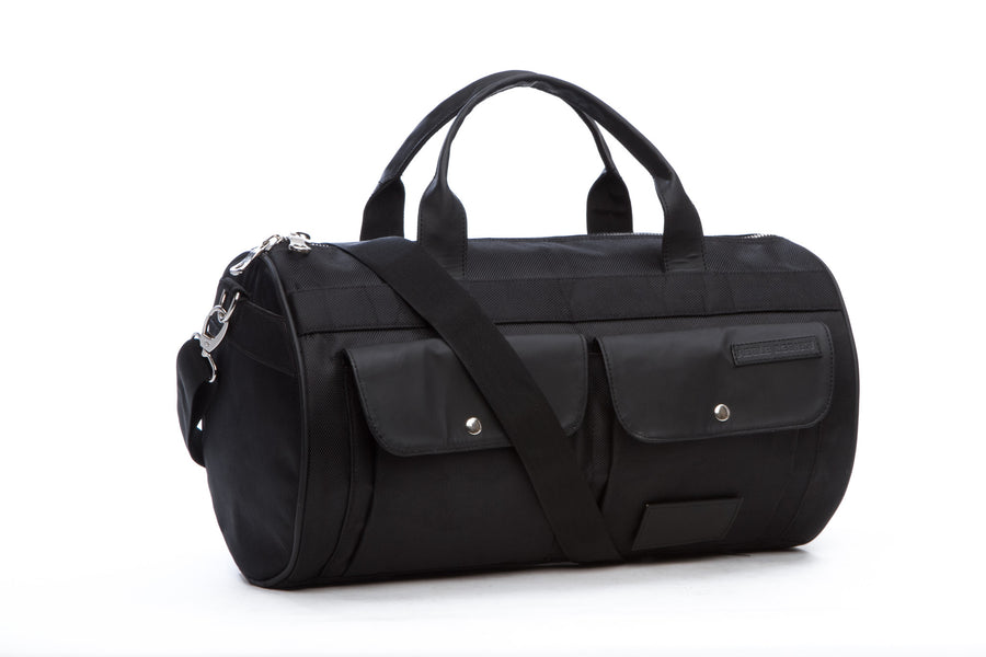 Rugged Round Gym Bag, Black
