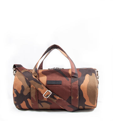 Revolt Round Gym Bag (Brown Camo)