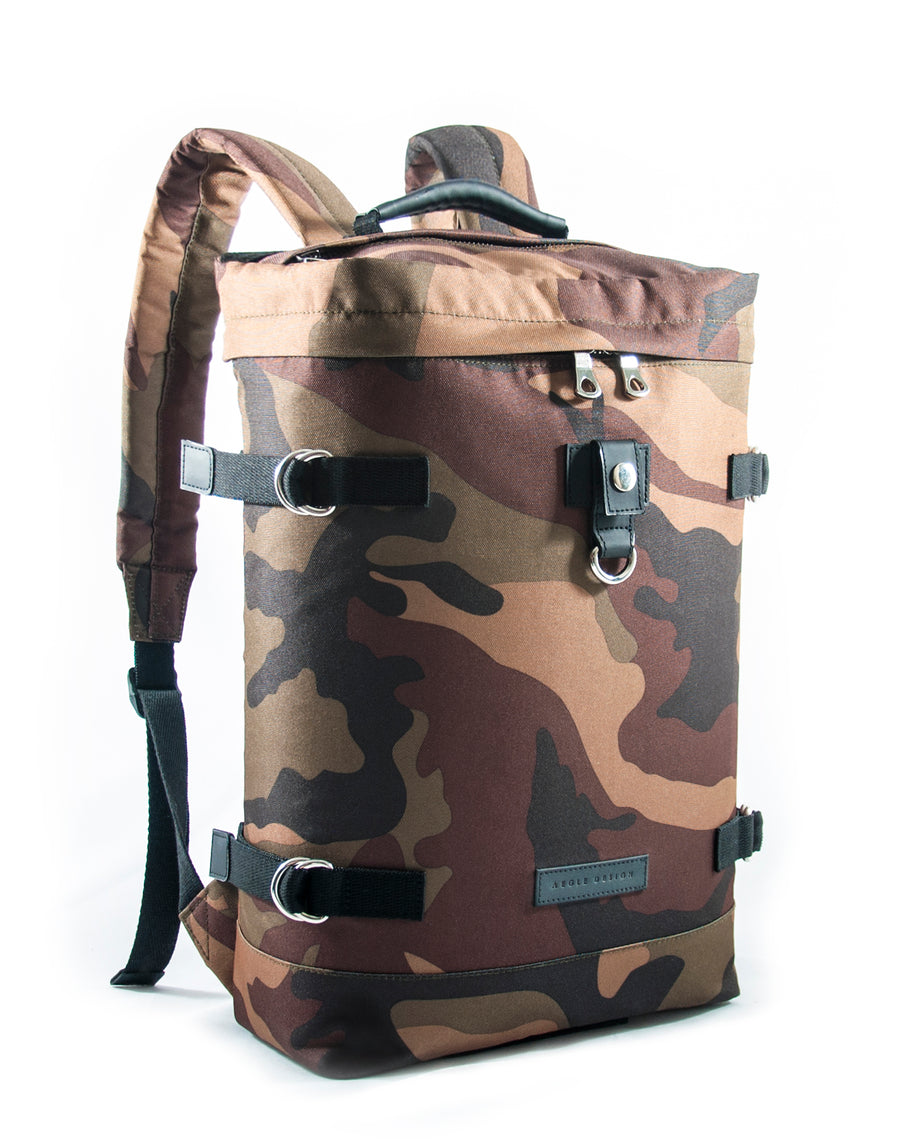 Revolt Round Backpack (Brown Camo)