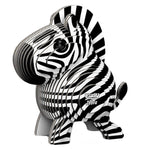 Load image into Gallery viewer, Eugy Dodoland Encourage your creativity and build this amazing zebra.  Environmentally friendly pack includes 6 to 7 numbered cards ready to assemble, non-toxic glue and uses eco-friendly inks.  Conforms to international safety standards (EN71-1,2,3 and CPSIA).