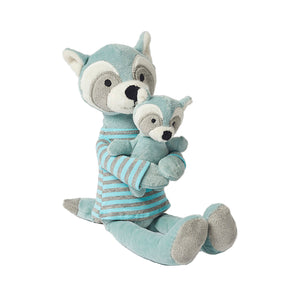 Plush Racoon with Baby