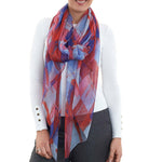 Load image into Gallery viewer, Roma Silk Georgette Print Wrap