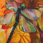Load image into Gallery viewer, Dragonfly Silk Print Scarf