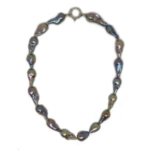 Baroque Grey Pearl Necklace