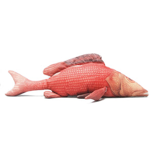 Bruce by White Moose is a large fish cushion who looks great on the couch, occasional chair or bed.  Providing a lovely pop of colour to a neutral decor, he will also look right at home with other vibrant interiors.  Dimensions: 91cm x 22cm x 41cm fin to fin.