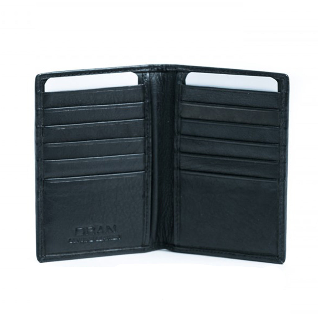 Oran Leather's soft leather Misha card holder features 12 card slots.  H 10 cm x L 7 cm x W 0.5 cm.