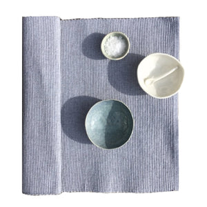 Placemats Cotton Rib - Set of 6 - Grey Marle
