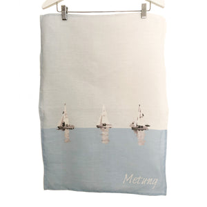 Metung Tea Towel with Yachts