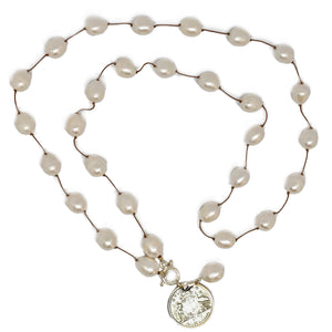 Long Spaced Pearl Necklace