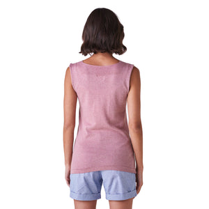 Melody Fitted V Neck Tank Vanilla