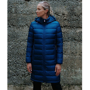 Sarah Packable Down Coat in Peacock