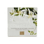 Load image into Gallery viewer, White Native Flora Drink Coasters