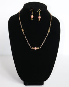 Rhodonite Golden Set