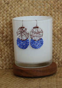 Bohemian Copper & Silver Earrings
