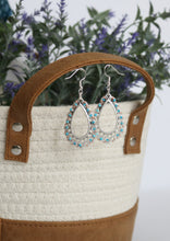 Load image into Gallery viewer, Turquoise Filigree Earrings