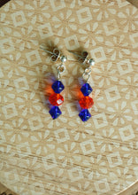Load image into Gallery viewer, Blue & Orange Match Earrings